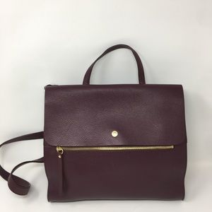 Nolita Pebble Leather Zipper Satchel
